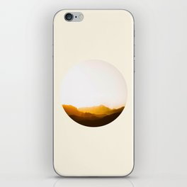 Sepia Sunset Mountains Silhouette iPhone Skin