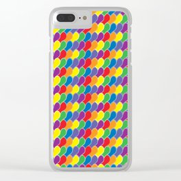 Pride Heart Scale Pattern Clear iPhone Case