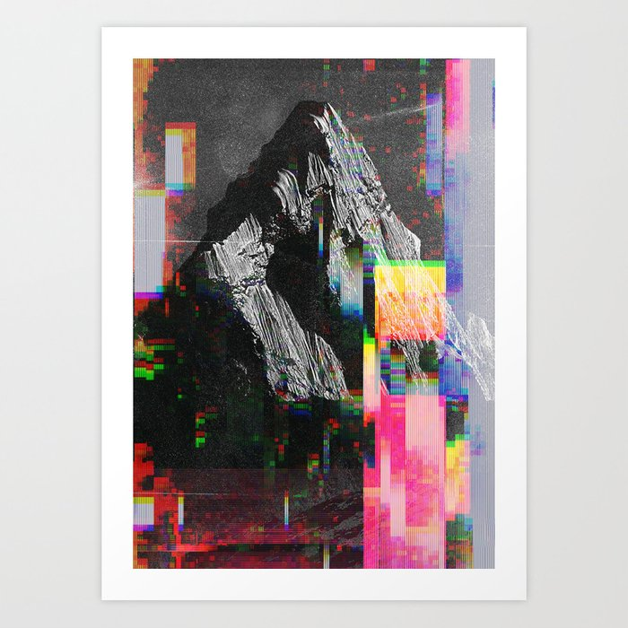 Discover the motif MOUNTAIN GLITCH III by Andreas Lie as a print at TOPPOSTER