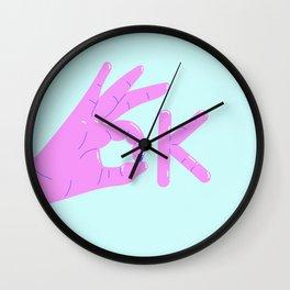 It's alright! – purple version Wall Clock