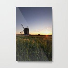 Windmill Sunset Metal Print