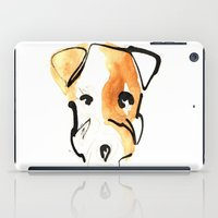 jack russell iPad Cases featuring Jack Russell by Jen Moules