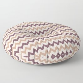 Brown Cream Purple Chevron Horizontal Line Pattern 2021 Color of the Year Canyon Dusk & Accents Floor Pillow