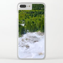 Over the Rushing Waters Clear iPhone Case