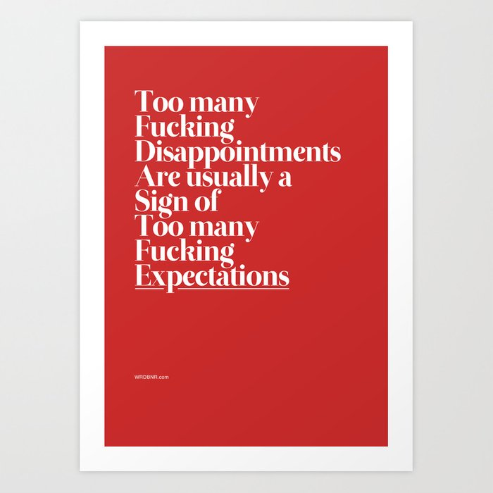 Disappointments Art Print