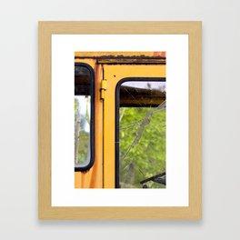 Junkyard School Bus Framed Art Print