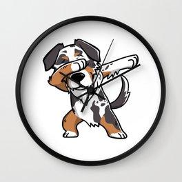 Funny Dabbing Australian Shepherd Dog Dab Dance Wall Clock