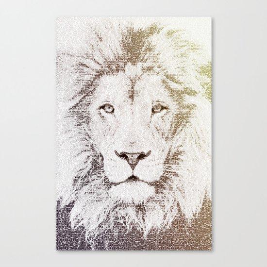 The Intellectual Lion Canvas Print