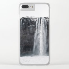 Seljalandsfoss Waterfall Iceland Clear iPhone Case