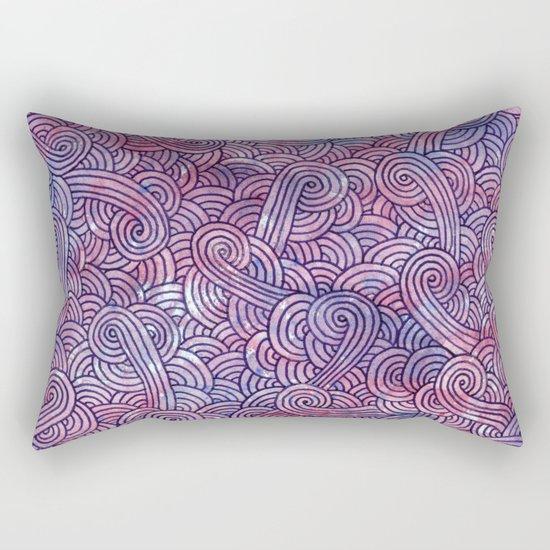 Purple swirls doodles Rectangular Pillow