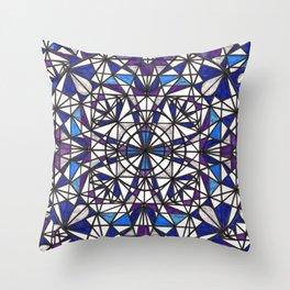 Blue purple dreams Throw Pillow
