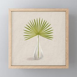 Palmetto Fan Framed Mini Art Print
