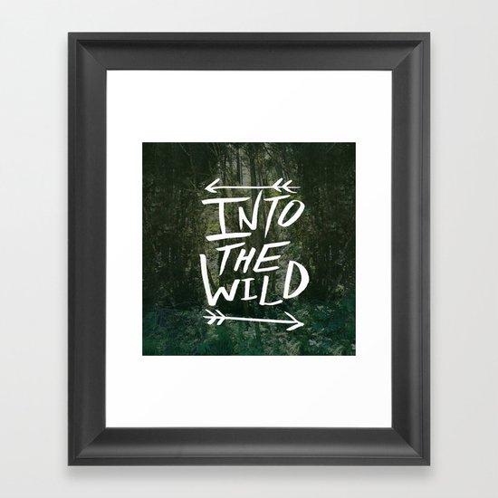 Into the Wild III Framed Art Print