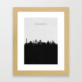 City Skylines: Kathmandu Framed Art Print