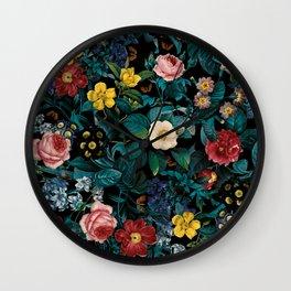 Night Garden XXV Wall Clock