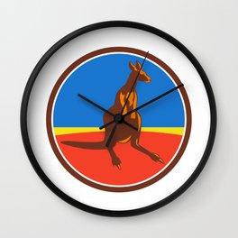 Kangaroo Circle Retro Wall Clock