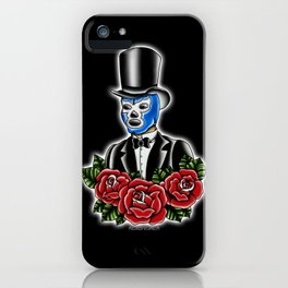 Blue Demon Gent iPhone Case