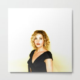 Christina Applegate - Celebrity Art Metal Print