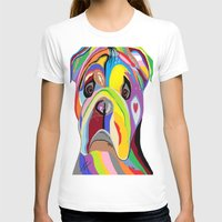 bulldog T-shirts featuring Bulldog by EloiseArt