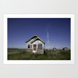 Farm House & Tower 4 Art Print