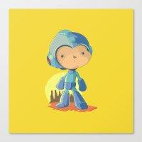 megaman Canvas Prints featuring Megaman by Rod Perich