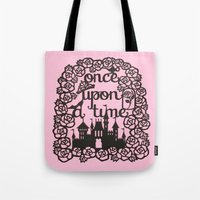 once upon a  time Tote Bags featuring Once upon a time  by eileenlim
