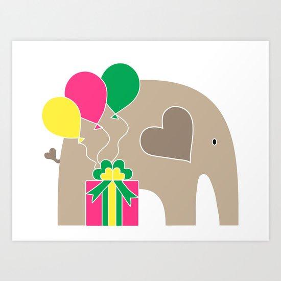 Celebration Elephant Art Print