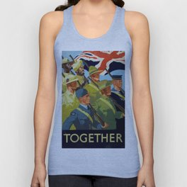 Together - WWII Propaganda Poster Unisex Tank Top