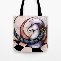 chess Tote Bags featuring Chess by Solomiya Shevchuk
