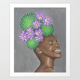 Barrel Cactushead Art Print