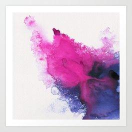 Watercolour splash Art Print