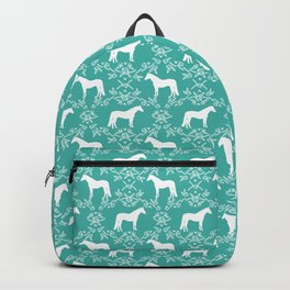 Horse silhouette pet farm animal floral pattern gifts decor horses Backpack