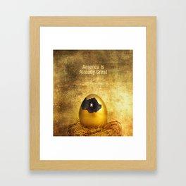 Yes It Is. Framed Art Print