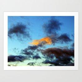 Fishy Cloud Glows in the Sky Art Print