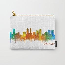 Denver Colorado City Watercolor Skyline Hq v2 Carry-All Pouch
