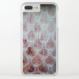 Rusted Scallops Clear iPhone Case