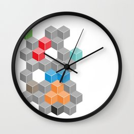 Isometric confusion Wall Clock