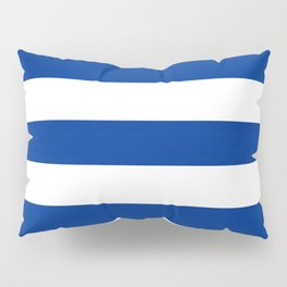 Air Force blue (USAF) -  solid color - white stripes pattern Pillow Sham