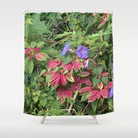 indonesia Shower Curtains featuring Christmas Star (Bali, Indonesia) by Christian Haberäcker - acryl abstract