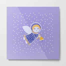 Angel on the light violet Metal Print