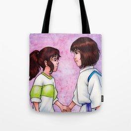 Chihiro and Haku Tote Bag