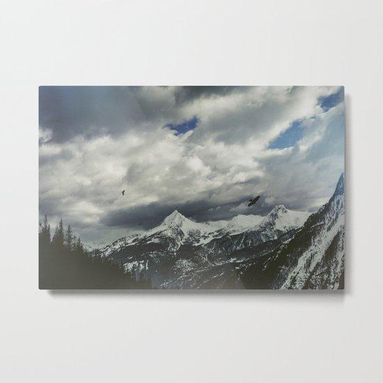 Wild Winter Mountains Metal Print