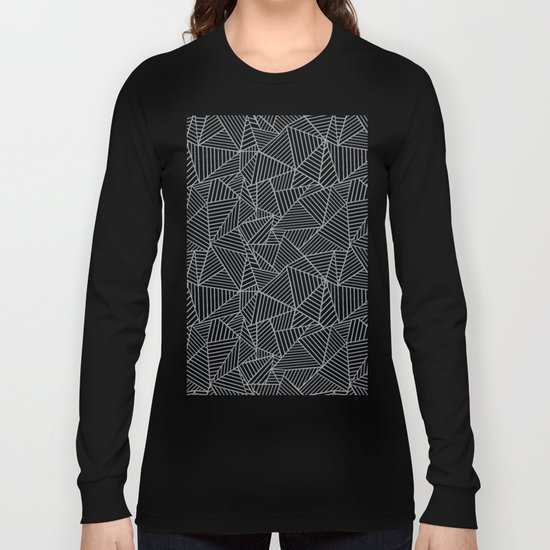 Ab 2 R Black and Grey Long Sleeve T-shirt