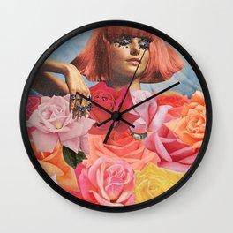 Flowerbed Wall Clock