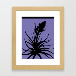 Tillandsia in Chocolate Brown - Original Floral Botanical Papercut Design Framed Art Print