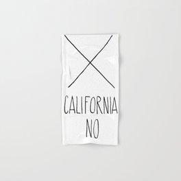 California No (T-Shirt) Hand & Bath Towel
