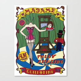 Madame Guillotine Canvas Print