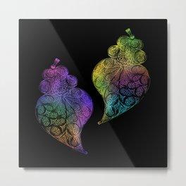 Two hearts-Heart of Viana Portugal Metal Print