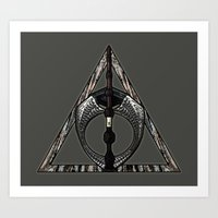 deathly hallows Art Prints featuring Master of Death by Talesanura