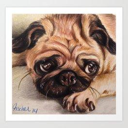 Hug A Pug Art Print